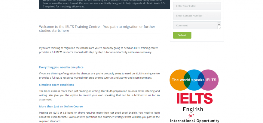 IELTS training centre
